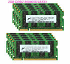 For Micron 8GB/4GB/2GB DDR2 667 800MHz DDR3 1333 1600 MHz RAM Laptop Memory LOT picture