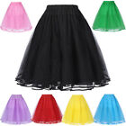 Tulle Skirts Women Party Short Prom Ball Dress Vintage Cute Solid Color Skirt
