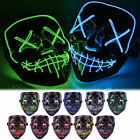 Kyпить  Halloween LED Glow Full Mask EL Wire Light Up The Purge Movie Rave Dance Party на еВаy.соm