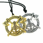 Nordic Viking Pendant Necklace Silver Gold Soilder Sword Axe Amulet Jewelry Us