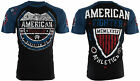 AMERICAN FIGHTER Mens T-Shirt SHERMAN Eagle BLACK Athletic Biker Gym MMA $40 image