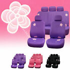 Seat Covers for Cars Floral Design Full Seat Covers Set 3 Colors $49.99 USD on eBay