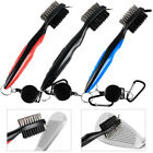 Golf Club Cleaning Groove Brush Cleaner Tools Hook to Bag for Iron Wood Clubs UK