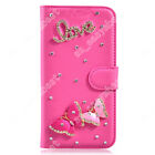 Bling Phone Case Flip Wallet Cover Beautiful Rhinestone Card Purse For Doogee