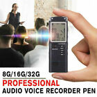 Digital Rechargeable Voice Activated Recorder Audio Recording Device 8-32GB New