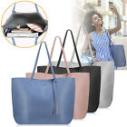 Women PU Leather Handbag Shoulder Ladies Purse Messenger Satchel Tote Bag image