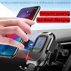 Baseus Infrared Sensor QI Wireless Charger Air Vent Phone Holder Mount Auto Lock