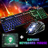 More images of Rainbow Backlight Usb Ergonomic Gaming Keyboard and Mouse Set for PC Laptop UK
