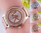 Fashion Women Men Diamond Crystal Stainless Steel Wrist Quartz Watches gift image