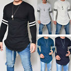 New Men Long Sleeve Blouse Tops T-Shirt Basic Crew Neck Slim Fit Muscle Clothing
