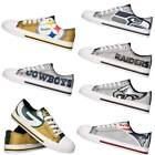 NFL Women's Glitter Low Top Canvas Shoes