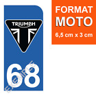 1 Sticker Plate Number Plate Motorcycle Blue, Triumph N° of Dept to Choose $6.8 AUD on eBay