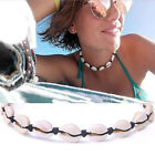 Fashion Bohemia Cowrie Choker Natural Shell Woven Necklace Adjustable Jewe ft