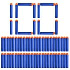 100 pcs Soft Bullets For Nerf Bullets Soft Hollow Hole Head 7.2cm Refill Darts