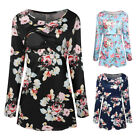 Women Nursing Blouse Breastfeeding Shirt Pregnant Floral Tops Maternity Clothing