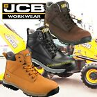JCB Workmax Leather Steel Toe Cap Work Safety Boots Black, Brown, Honey,