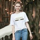NEW 9Guccy01 Logo men and women T-shirt Size;S--2XL image