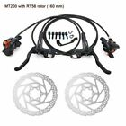 Shimano BR-BL-MT200 MTB Hydraulic Disc Brakes Set Pre-Bleed With 160mm Rotors