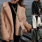Womens Long Sleeve Knitted Fluffy Coat Cardigan Sweater Casual Outerwear Jacket