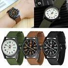 Men's Sport Quartz Date Nylon Strap Army Military Wrist Watches Canvas Band Gift image