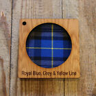 Scottish Piper Wall Art with Engraved Thistle & Tartan Inlay. Face on.
