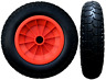 More images of 3.50-8 ORANGE 14 PUNCTURE PROOF LAUNCHING TROLLEY WHEEL SOLID TYRE 1 BORE