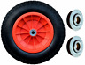 More images of 3.50-8 ORANGE 14 PUNCTURE PROOF LAUNCHING TROLLEY WHEEL SOLID 16MM BEARINGS