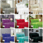 Flat Sheet 1900 Count Wrinkle Free Soft Solid Bed Top Sheets Pillow cases image