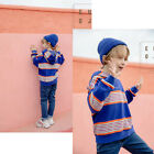 Boys Casual Wear Hooded Long Sleeve Sets Letter Striped Printing Spring Fall SS