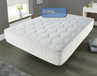 Memory Foam Luxury Matress Sprung Mattress 3ft Single 4ft6 Double 5ft King bed