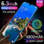 "New P36 Pro Smartphone Android 9.1 6gb+128gb 6.3"" Mobile Smart Phone Dual Sim"