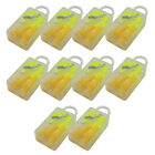 10 Pairs Soft Silicone Corded Ear Plugs 33dB Anti Noise Reusable Hearing Protect