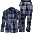 Gant Vintage Check Cotton Flannel Men's Pyjama Set, Blue