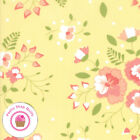 Moda SUGARCREEK 29070 16 Yellow Coral Floral COREY YODER Quilt Fabric