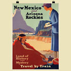 USA New Mexico and Arizona Rockies retro poster print - various sizes, framed...