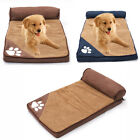 Non-Slip Fleece Dog Puppy Pets Bed Rest Pillow Mat Sponge Mattress Cage Bedding