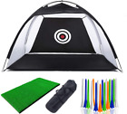 Practice Golf Net Chipping Mat Driving Pop-Up Balls Training Tools Outdoor 1 Pc