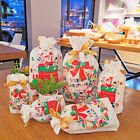 10 Pcs Christmas Storage Bag Gift Candy Drawstring Packing Stocking Cello Party
