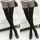 Women Fleece Lined Warm Thick Thermal Full Foot Footless Tights Winter Stockings