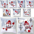 18*18inch Christmas 3D Snowman Square Throw Pillow Case Cushion Cover Home Decor