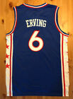 BRAND NEW Julius Erving #6 Philadelphia 76ers Blue Stitched Basketball Jersey