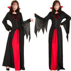 Adult Lady Halloween Costume Wine Red Vampire Wizard Costume Sexy Fancy Dress TP