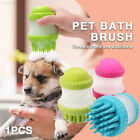 01B5 2 in 1 Dog Brush Carding Fur Pet Cleaning Durable Pet Shampoo Brush
