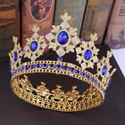 Luxury 5 Colors Crystal Prom Large King Queen Crown Wedding Party Pageant