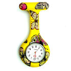 Nurse Butterfly Silicone Small Watch Tunic Brooch Fob Quartz Pocket Watches US