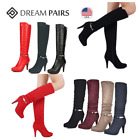 DREAM PAIRS Women Knee High Platform Heel Ladies Fashion Zip Thigh High Boots US