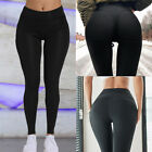 Women Yoga Pants Butt Lift Anti-Cellulite Leggings High Waist Workout Trousers A