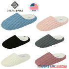 DREAM PAIRS Women's Memory Foam Knit Slippers Soft Slip On Indoor House Shoes