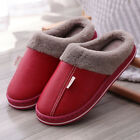 Ladies Fur Fleece Lined Mules Winter Slippers Womens Indoor House Shoes Clogs