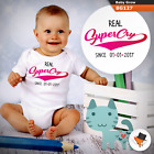 0-3 Months Baby Grows Personalised Supercry Christmas Gifts Boys Girls Sizes